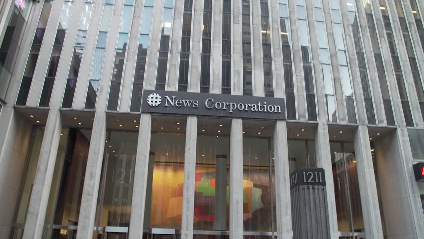 NEW YORK CITY - APRIL 2017: News Corp. Building, an International skyscraper in Manhattan global headquarters businessman Rupert Murdoch's media companies, 21st Century Fox News Corp. (NASDAQ: NWS)