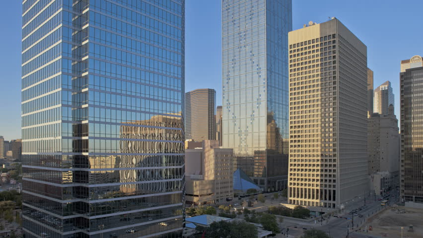 DALLAS, TEXAS, USA, SEP 07, 2011: Sunset Time lapse of the skyline from Dallas