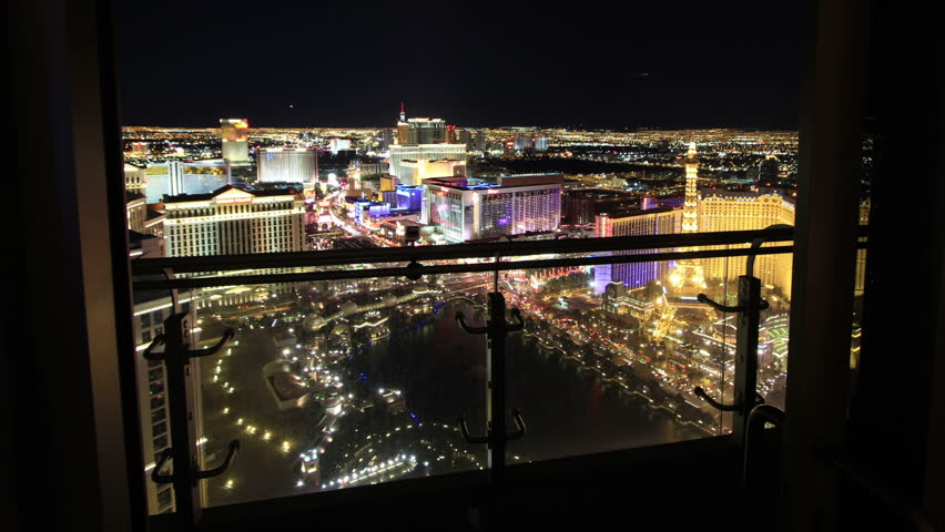 Forward Sliding Time Lapse from Las Vegas High Rise Balcony. Aerial View of City. | Shutterstock HD Video #2795314