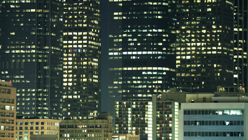 Time Lapse of flickering Lights from Office and Residential Buildings | Shutterstock HD Video #2795329