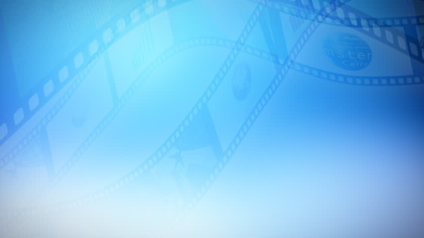 Background animation of a reel clip business. Seamless loop.