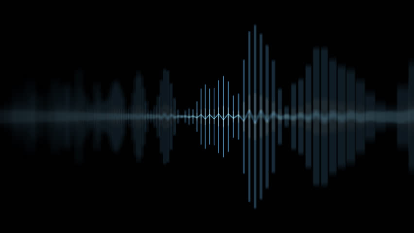 Blue Audio Waveform Spectrum