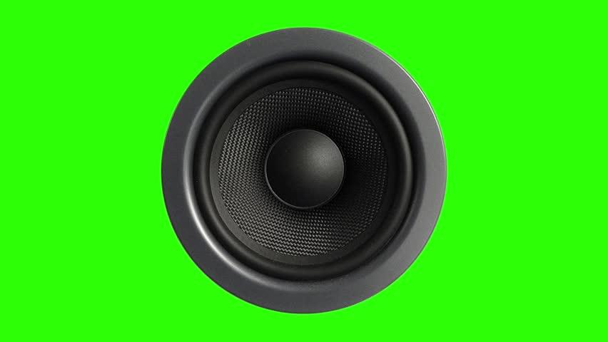 Speaker Stereo Music Green Screen 3D Rendering Animation