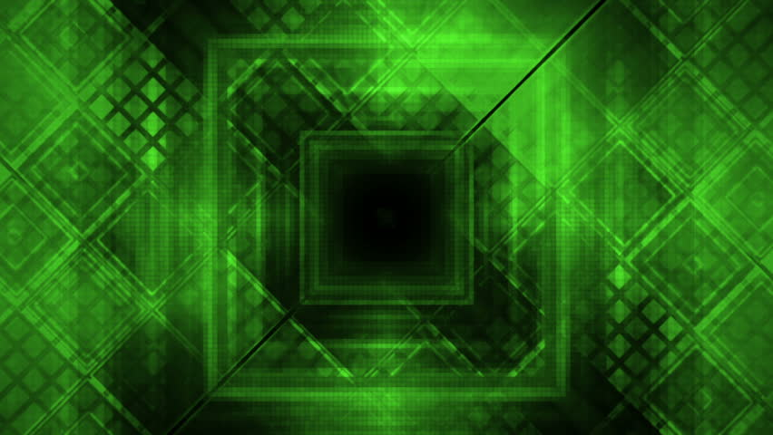Green geometric VJ looping fast paced seamless abstraction animated backdrop