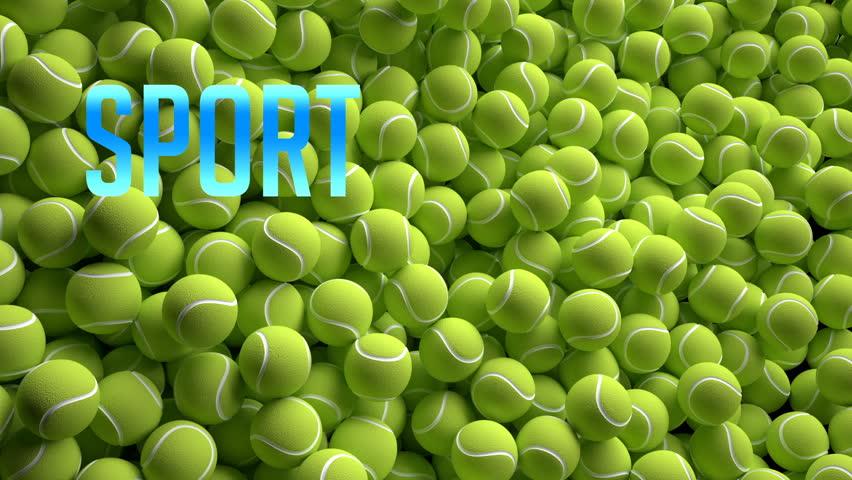 Tennis balls. 3d rendering