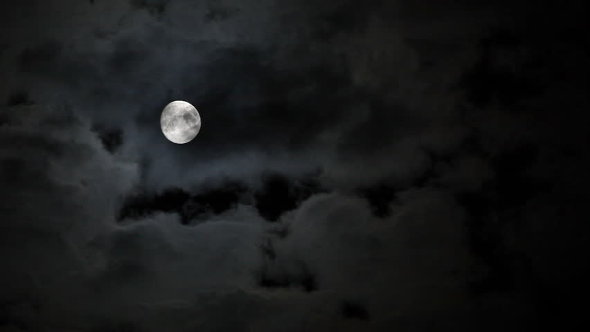 Full moon behind clouds at night | Shutterstock HD Video #2831005