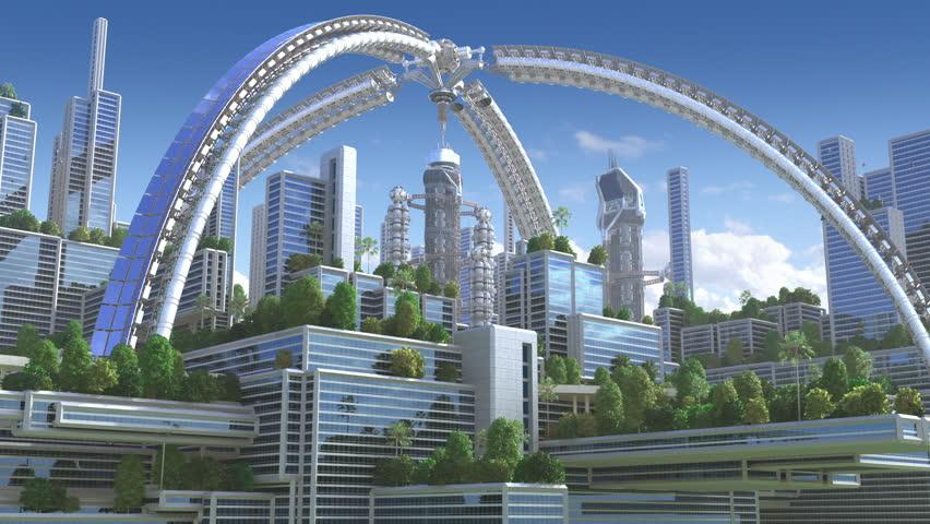 3D Animation of a futuristic