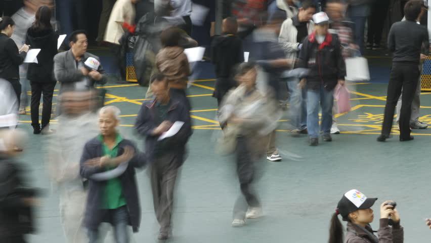 HONG KONG - DECEMBER 12: Crowd at entrance on December 12, 2010 in Hong Kong, China. #2853655