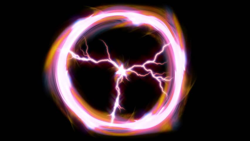 Plasma Energy Ball  motion background HD stock footage.