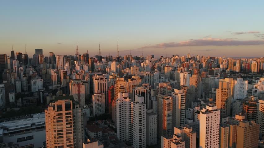 Aerial View of Sao Paulo city, Brazil...