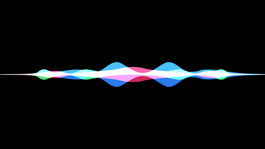 colorful waveform, imagination of voice record, artificial intelligence