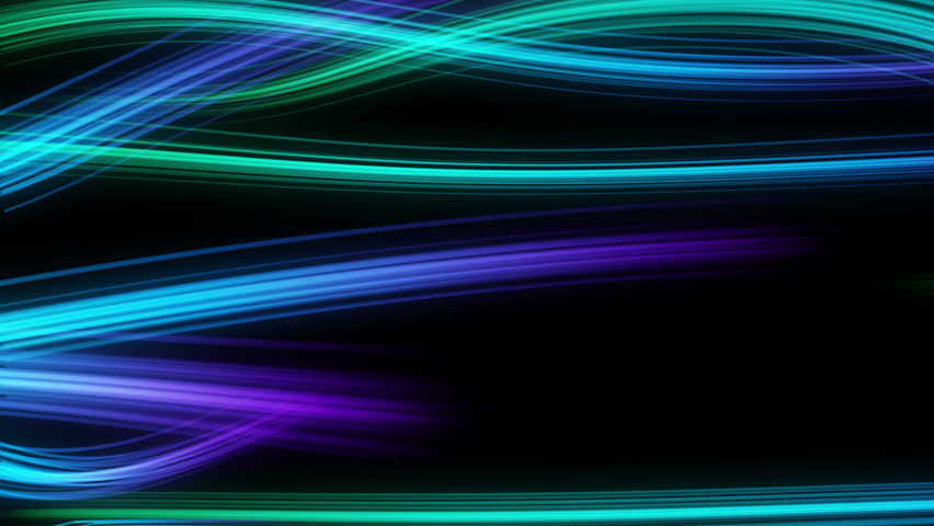 Colorful Swirly Streaks of Lights Moving Horizontally Seamless Looping Motion Background Cyan Blue Turquoise