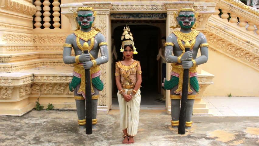 A Pretty Apsara Dancer Seductive Beautiful Supernatural Female In ...