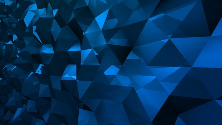 Geometric Triangle Wall waving background. | Shutterstock HD Video #29607790
