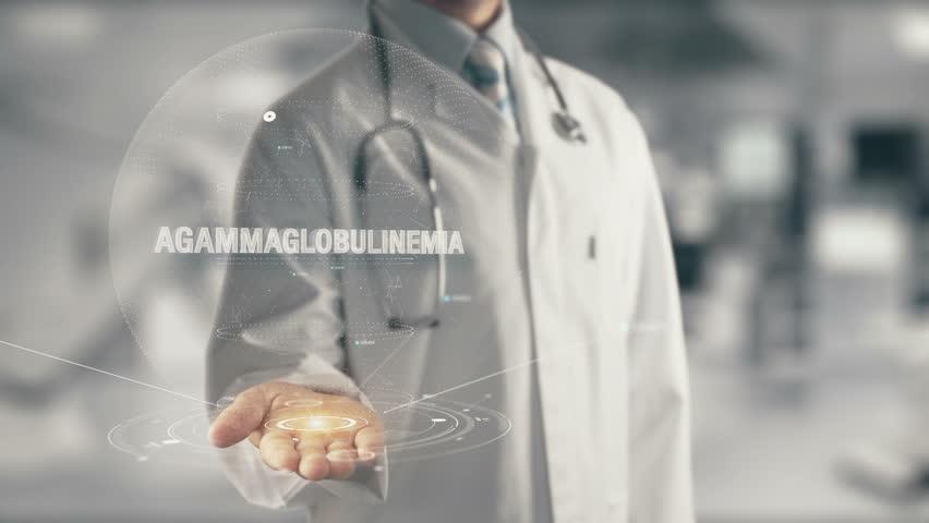 Header of agammaglobulinemia
