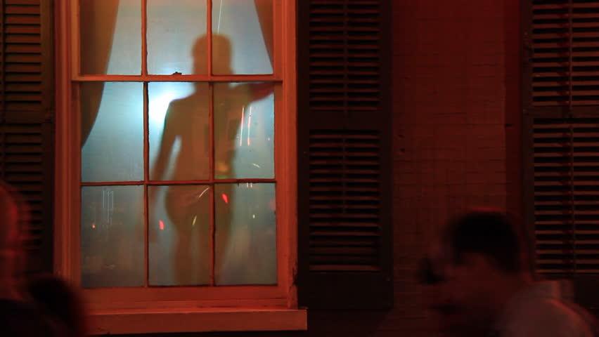 NEW ORLEANS - CIRCA JULY 2011: Stripper Silhouette 2. A stripper's silhouette