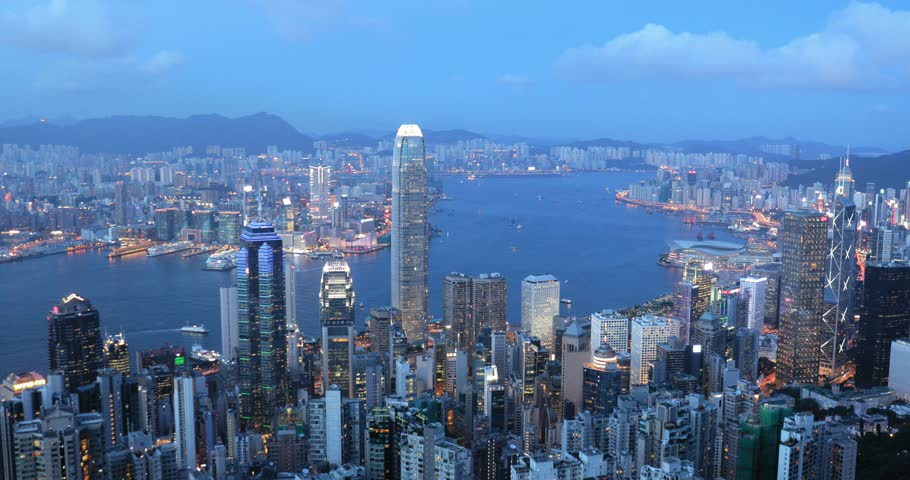 Hong Kong evening  | Shutterstock HD Video #29914198