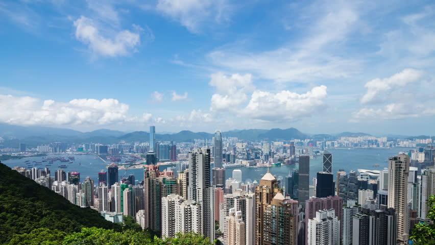 Timelapse of hong Kong skyline | Shutterstock HD Video #30031333