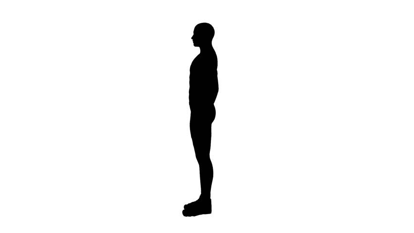 silhouette of man walking stock footage video 3005113