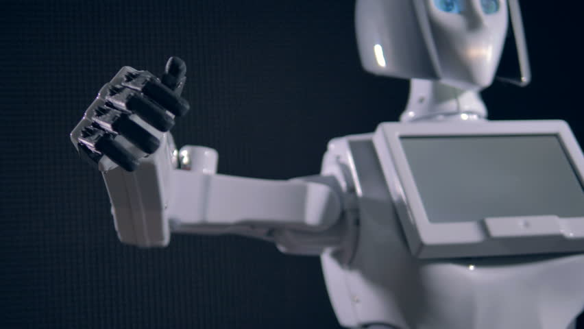 Bionic humanoid robot. Futuristic robot concept.