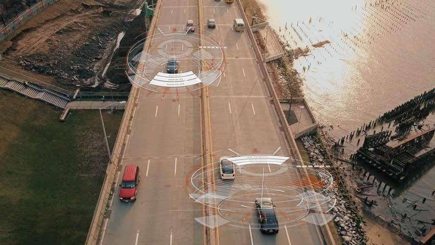 Self Driving Autopilot Autonomous Cars 4K | Shutterstock Video #30463072