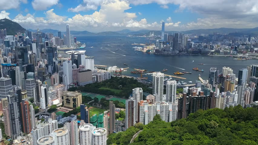 4k aerial video of Victoria Harbour in Hong Kong | Shutterstock HD Video #30464500