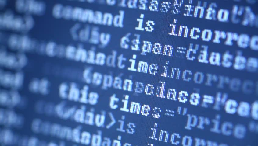 HTML codes  | Shutterstock HD Video #3052882