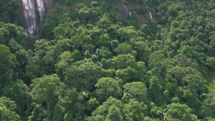 Aerial shot of big waterfall in jungle   Shutterstock HD Video #30539086