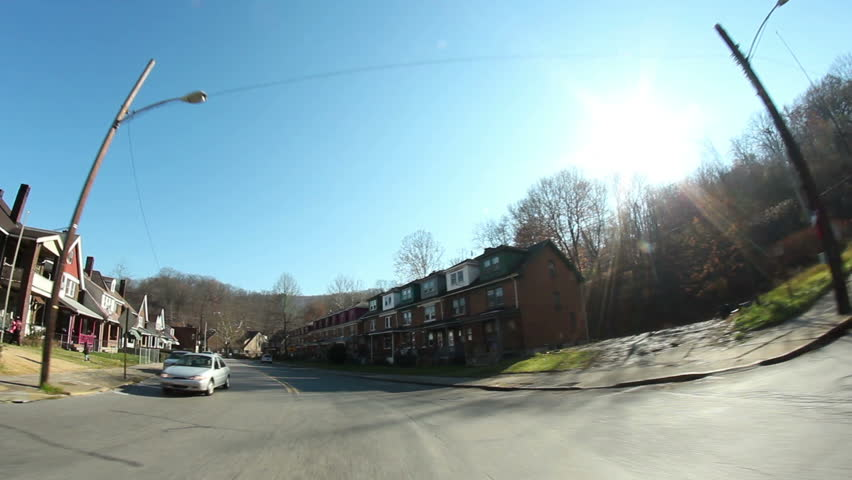 Driving through the former steel town of Aliquippa, about 18 miles north of