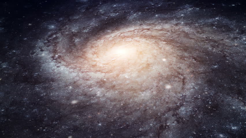 Rotating spiral galaxy - deep space exploration