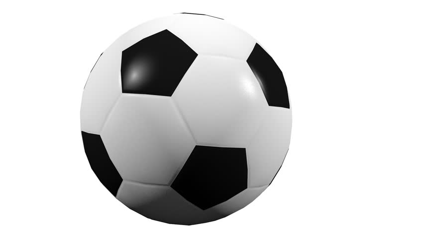 3D Animation - Soccer ball rolling with alpha channel