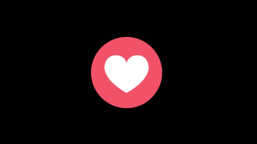 Antalya, Turkey - September 26, 2017: A 3D rendering of Love Emoji Reaction isolated in a black background. Animation with alpha channel. Facebook is a well-known social networking service.