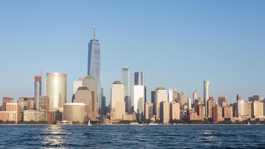 Lower Manhattan Skyline Day to Night Sunset Timelapse | Shutterstock HD Video #31209706