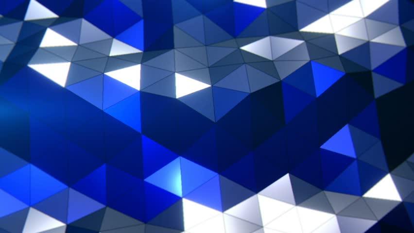 PolyWaves Blue - Professional VJ Background Loop. FULL HD 1080p | Shutterstock HD Video #31325698