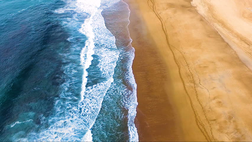 Beach in aerial view with wave | Shutterstock HD Video #31481167