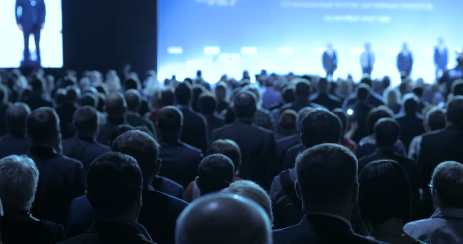 people at a conference or presentation, workshop, master class photograph. Back view   Shutterstock Video #31496914