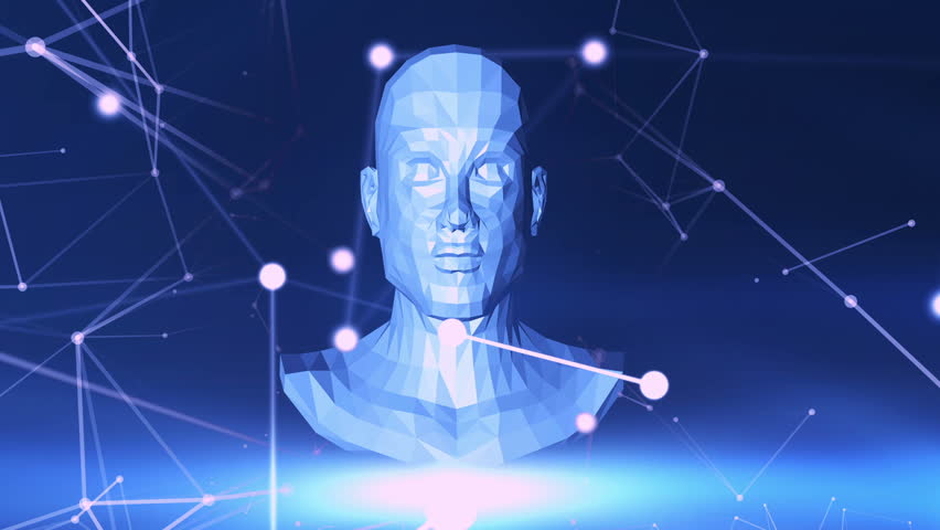 Background with animation of abstract interface. Human head | Shutterstock HD Video #31509250