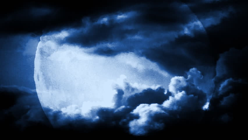 Full moon with dramatic time lapse clouds and air distortion.    Shutterstock HD Video #315967