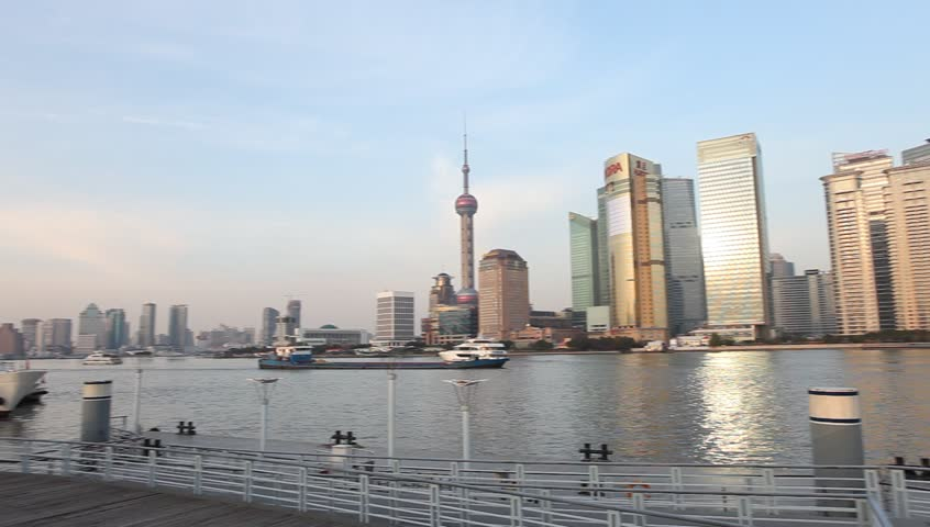 shanghai,china - DEC 19:view of Pudong from the Bund on DEC 19  in