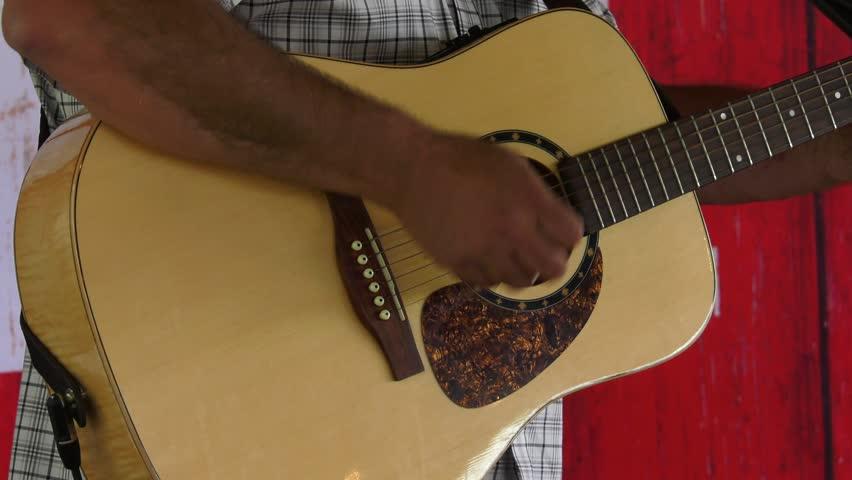accoustic guitar strumming