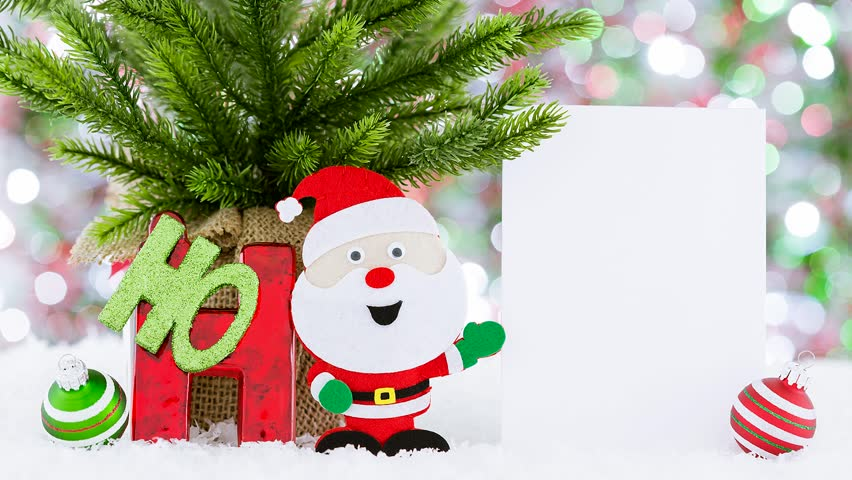 Christmas Greeting Video Card: Ho ho ho Santa. Creative, funny, and cute way to send your holiday wishes. | Shutterstock HD Video #31954507