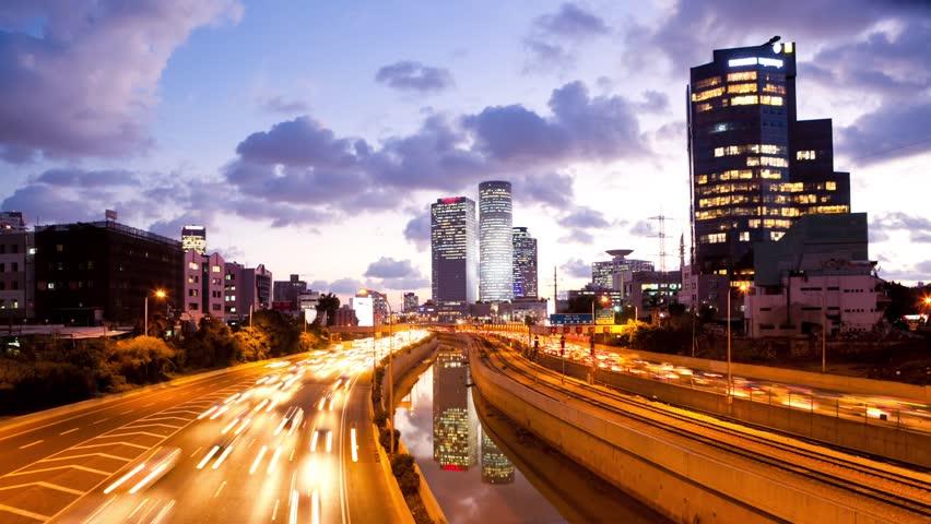 Traffic Time Lapse - Ayalon Freeway | Shutterstock Video #3203596