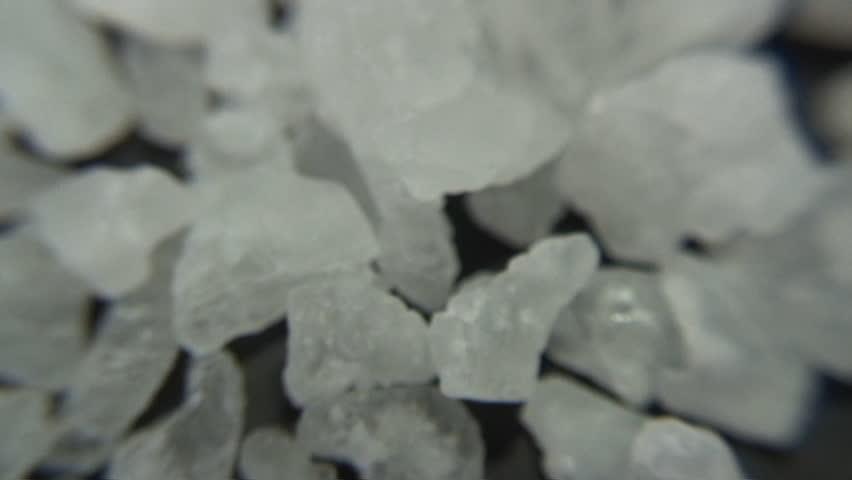 Extreme macro - Dead Sea salt crystals - crystal meth
