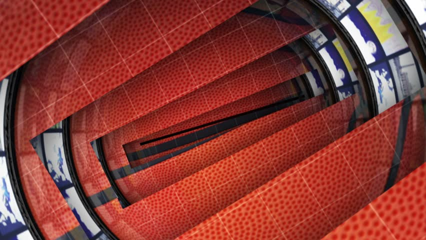 SPORTS BALL Animation and Monitors Tunnel, Rendering, Background, Loop, 4k