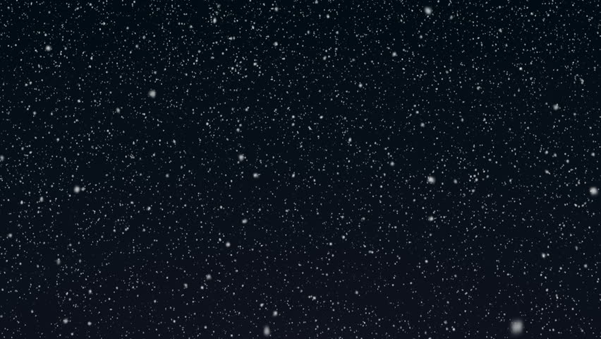Snowy 3 - Gently Falling Snow Video Background Loop /// Snow falling slowly and gently in front of a blueish night background. A calm and contemplative 'Silent Night' video loop.