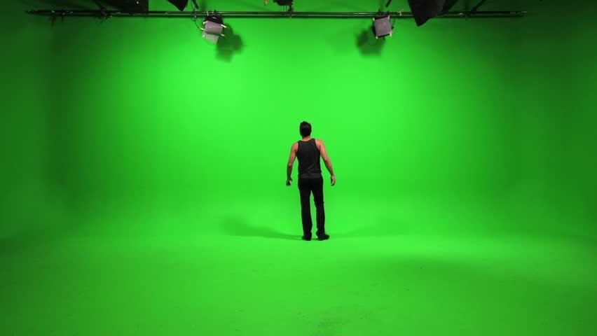 green screen male model