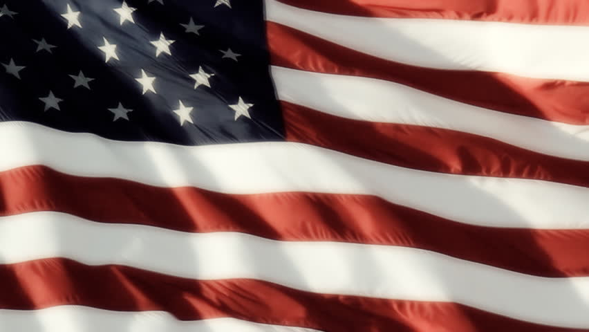 Classic Flag Smooth. Real video of a large American flag blowing in the wind,
