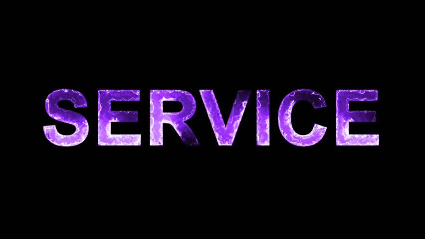 Luminous and shimmering haze inside the letters of the word SERVICE. Transparent, Alpha channel | Shutterstock HD Video #32293180