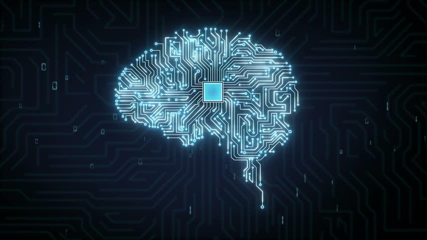 Brain CPU chip, 4K size movie, grow artificial intelligence   Shutterstock HD Video #32335567