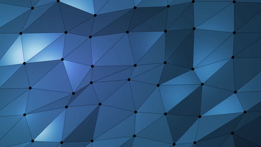 Dark blue creative shining geometric triangular background animation in Origami style.   Shutterstock HD Video #32419045